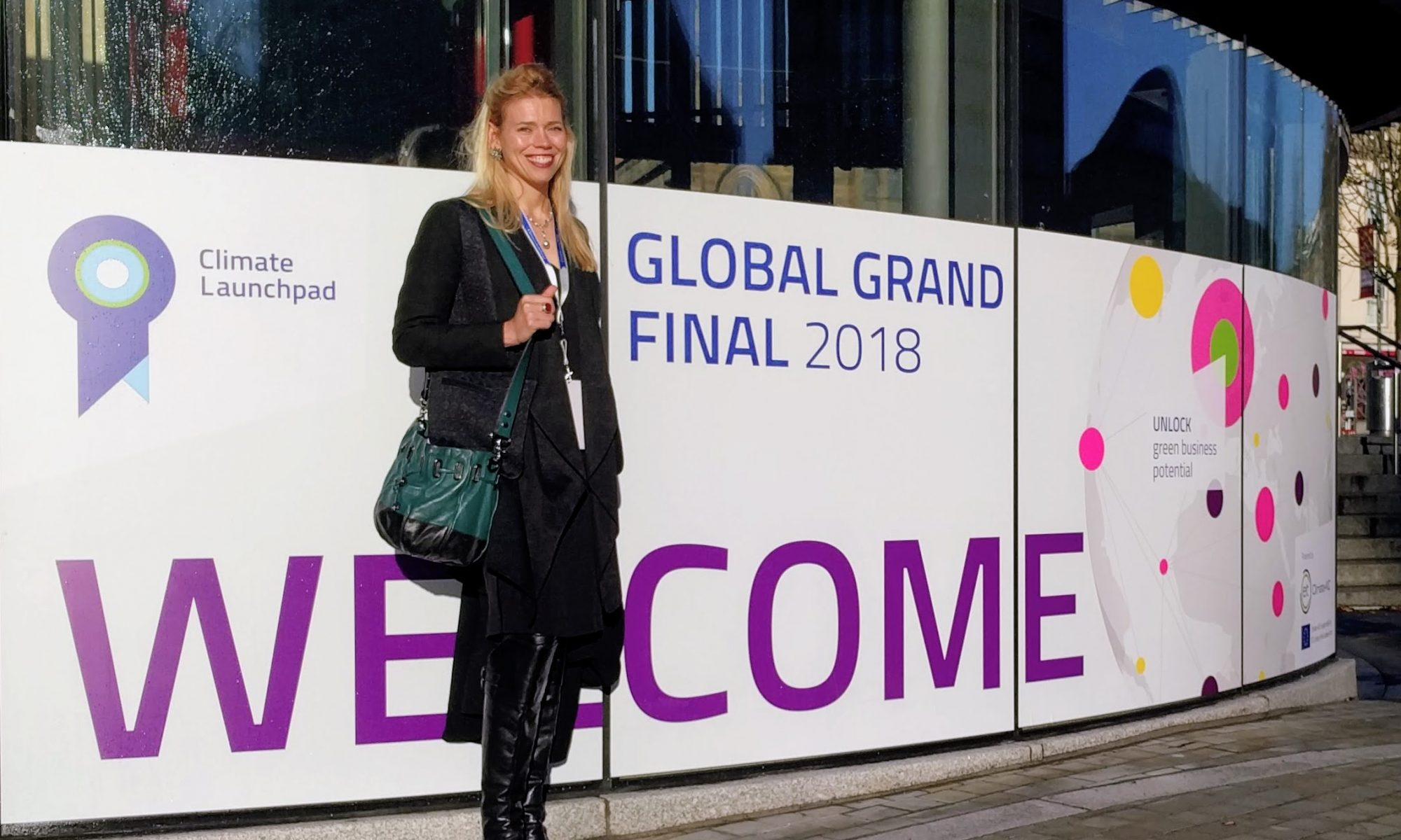 Camille Reed at the 2018 ClimateLaunchpad Global Grand Final in Edinburgh